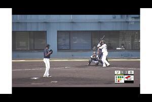 【7回裏】佐藤直樹、ライトへの犠飛フライ! 11/17ソフトバンク VS ロッテ フェニックスリーグ