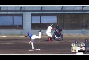 【2回裏】長岡秀樹、レフトへのタイムリーヒット! 11/23ヤクルトvsDeNA フェニックスリーグ