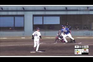 【6回表】細川成也 レフトへのタイムリーヒット! 11/23ヤクルトvsDeNA フェニックスリーグ