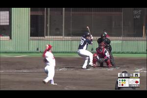 【7回表】牧野翔矢、センターへタイムリーツーベース! 11/29 広島 vs 西武 フェニックスリーグ