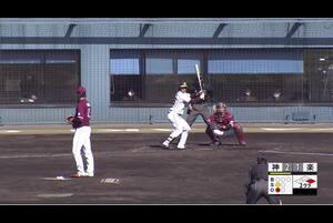 【2回裏】遠藤成、センターへのタイムリースリーベース! 11/29 阪神 vs 楽天 フェニックスリーグ