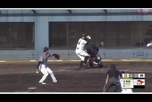 【7回裏】海老原、同点のタイムリーツーベース! 11/15日本ハムvs阪神 フェニックスリーグ