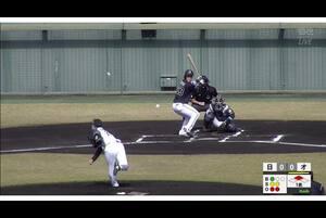 【1回表】稲富、ライトへの先制タイムリーヒット! 11/14日本ハムvsオリックス フェニックスリーグ