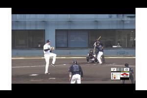 【7回表】西巻賢二、ライトへの犠牲フライ! 11/17ソフトバンク VS ロッテ フェニックスリーグ