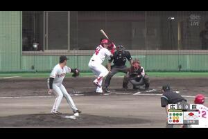 【1回裏】林晃汰、タイムリーツーベース! 11/19広島vs巨人 フェニックスリーグ
