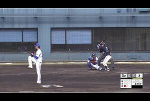 【4回表】フェリペ、意表をつくセーフティバント 宮崎アイビー 11/19DeNAvsオリックス フェニックスリーグ