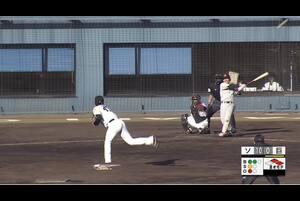 【8回表】山本泰寛、レフトへのタイムリーツーベース! 11/28 ソフトバンク VS 巨人 フェニックスリーグ