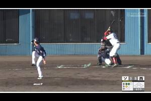 【6回裏】愛斗、ファウルフライを好捕! 11/21ソフトバンクvs西武 フェニックスリーグ