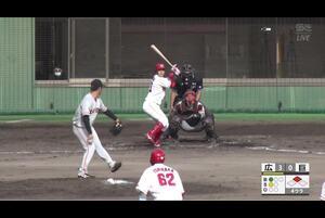 【4回裏】小園海斗、タイムリースリーベース! 11/19広島VS巨人 フェニックスリーグ