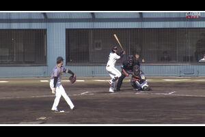 【6回裏】難波、レフトへのスリーベースヒット! 11/15日本ハムvs阪神 フェニックスリーグ