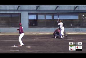 【2回裏】小野寺暖、センターへのタイムリーツーベース! 11/29 阪神 vs 楽天 フェニックスリーグ
