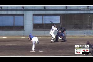【5回裏】大村孟、ライトへのタイムリーヒット! 11/23ヤクルトvsDeNA フェニックスリーグ