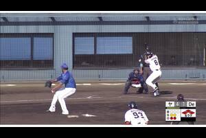 【6回裏】ディアス、満塁の場面で奪三振! 11/23ヤクルトvsDeNA フェニックスリーグ