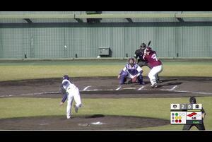 【6回表】石原、センターへのタイムリーヒット! 11/12中日vs楽天 フェニックスリーグ