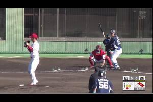【1回表】愛斗、センターへの先制タイムリーヒット! 11/29 広島 vs 西武 フェニックスリーグ