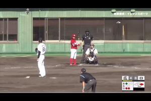 【7回表】羽月、センターへのタイムリースリーベース! 11/15ロッテvs広島 フェニックスリーグ