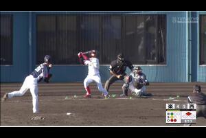 【8回裏】武藤敦貴、同点タイムリーヒット! 11/28 楽天 VS 西武 フェニックスリーグ