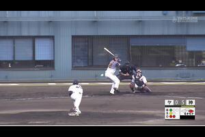 【4回表】松本直樹、盗塁阻止! 11/18ヤクルトvs阪神 フェニックスリーグ