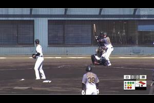 【2回表】本前、奪三振! 11/10ロッテVS阪神 フェニックスリーグ