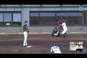 【5回裏】ファンブルにより益子出塁 DeNA2点目 11/27 DeNA VS ロッテ フェニックスリーグ