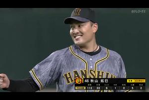 10/25【巨人vs阪神】秋山 ヒーローインタビュー