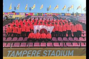 7月10日(火)~15日(日)に、フィンランド・タンペレ市のタンペレ・スタジアムで開催された第17回U20世界陸上競技選手権大会。<br /> <br /> 6日間の戦いを終え、チームJAPANは、金メダル2、銀メダル2、銅メダル2、入賞11。1~8位の入賞をポイントで計算する国別総合成績は7位となった。<br /> <br /> ◆国別総合成績<br /> 1位 アメリカ 155点<br /> 2位 ケニア 112点<br /> 3位 ジャマイカ 101点<br /> ・・・<br /> 7位 日本 75点<br /> <br /> <メダル、入賞一覧><br /> <br /> ・金メダル<br /> 橋岡優輝(日本大学)男子走幅跳<br /> 田中希実(ND 28AC)女子3000m<br /> <br /> ・銀メダル<br /> 高良彩花(園田学園高校)女子走幅跳<br /> 桑添友花(筑波大学)女子やり投<br /> <br /> ・銅メダル<br /> 泉谷駿介(順天堂大学)男子110mH(99.0cm)<br /> 江島雅紀(日本大学)男子棒高跳<br /> <br /> ・4位<br /> 男子4x100mリレー(福島聖、宮本大輔、上山紘輝、安田圭吾)<br />  1走 福島聖(富山大)<br />  2走 宮本大輔(東洋大)<br />  3走 上山紘輝(近畿大)<br />  4走 安田圭吾(大東文化大)<br /> 和田有菜(名城大学)女子3000m<br /> 藤井菜々子(エディオン)女子10000m競歩<br /> <br /> ・5位<br /> 吉田匠(早稲田大学)男子3000mSC<br /> 酒井由吾(慶應義塾大学)男子走幅跳<br /> <br /> ・6位<br /> 川田朱夏(東大阪大学)女子800m<br /> <br /> ・7位<br /> 友利響平(環太平洋大学)男子走高跳<br /> 髙松智美ムセンビ(名城大学)5000m<br /> <br /> ・8位<br /> 宮本大輔(東洋大学)男子100m<br /> 坂崎翔(平成国際大学)男子10000m競歩<br /> 齋藤真希(鶴岡工業高校)女子円盤投<br /> <br /> <br /> ▼第17回U20世界陸上競技選手権大会▼<br /> http://www.jaaf.or.jp/competition/detail/1265/<br /> 開催日:2018年7月10日(火)~15日(日)<br /> 会場:フィンランド・タンペレ