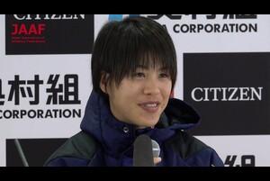 1月27日、ヤンマースタジアム長居をスタート/フィニッシュとし、第38回大阪国際女子マラソン大会が行われました。<br /> 出場選手で唯一MGC出場権を持つMGCファイナリストの小原怜(天満屋)が日本選手最高の2位に入りました。