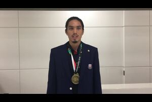第18回アジア競技大会の陸上競技の男子4×400mリレーと男子400mハードルで銅メダルを獲得した安部孝駿(デサントTC)からのコメントをお届けします。<br /> <br /> <br /> 応援ありがとうございました!<br /> <br /> ▼大会詳細▼<br /> http://www.jaaf.or.jp/competition/detail/1274/<br /> <br /> ★日本陸連<br /> http://www.jaaf.or.jp/