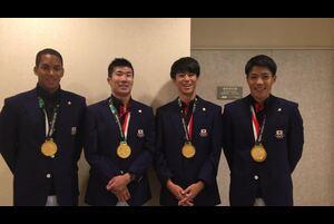 第18回アジア競技大会の陸上競技の男子4×100mリレーで20年ぶりの金メダルを獲得した山縣亮太(セイコー)、多田修平(関西学院大学)、桐生祥秀(日本生命)、ケンブリッジ飛鳥(Nike)からのコメントをお届けします。<br /> <br /> <br /> 応援ありがとうございました!<br /> ▼大会詳細▼<br /> http://www.jaaf.or.jp/competition/detail/1274/<br /> <br /> ★日本陸連<br /> http://www.jaaf.or.jp/