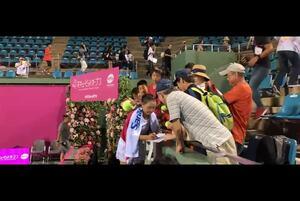 【花キューピットオープン2019】奈良くるみ  試合後の神対応でも魅了 <女子テニス>
