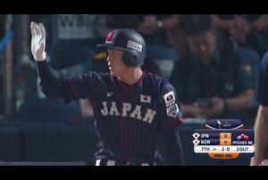 熊田が均衡を破るタイムリーで侍ジャパンU-18代表が先制【U-18野球W杯2019/9/6】
