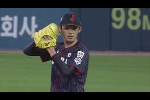 先発・佐々木、初回落ち着いた立ち上がりをみせる【U-18野球W杯2019/9/6】