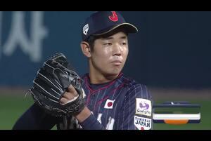 5番手・池田が四球を与え同点とされる【U-18野球W杯2019/9/6】