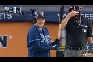 【SPOZONE MLB】レイズの崔志萬はヤンキース戦で、先制の3号2ランを含む3安打3打点2四球の凄まじい活躍を見せた。
