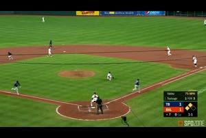 【SPOZONE MLB】<br /> 初めて1番打者として起用された筒香嘉智がSPOZONE Today's Match MVPに選出!初回にセンター前ヒットを放ち、7回表無死二・三塁の絶好機では決勝点となる打点を稼ぎました!