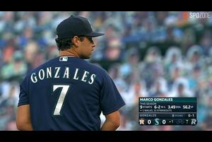 【SPOZONE MLB】<br /> 日本時間22日マリナーズの本拠地で行われたアストロズ戦で、8回を被安打7、奪三振6、失点0で今季7勝目をマークしたマリナーズのマルコ・ゴンザレスがSPOZONE Today's Match MVPに選出!!
