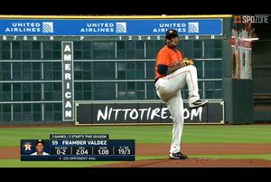 【SPOZONE MLB】アストロズのバルデスはマリナーズ戦に先発し、6回を被安打4失点1奪三振5と好投し、今季初勝利を挙げた。