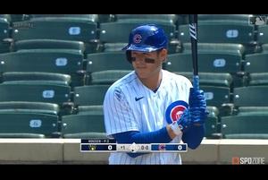 【SPOZONE MLB】カブスのリゾーはブリュワーズ戦で5打数3安打1本塁打3打点の活躍を見せた。