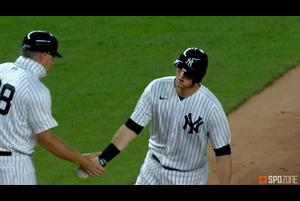 【SPOZONE MLB】<br /> 日本時間2日ヤンキースの本拠地で行われたレイズ戦で、先頭打者ホームラン&2打席連続本塁打を放ち勝利に貢献したヤンキースのD.J.レメイヒュー!!<br /> 田中将大の初勝利につながった活躍でした♪