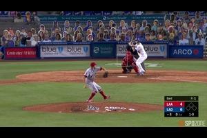 【SPOZONE MLB】<br /> 8号ソロを含む3打数2安打2打点をマークしたウィル・スミス(ドジャース)がSPOZONE Today's Match MVPに選出!打率は.300に上昇し、OPSも1.000の大台を突破しました!