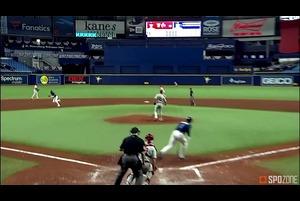 【SPOZONE MLB】<br /> 5回裏に貴重な追加点となるタイムリーを放ったウィリー・アダメス(レイズ)がSPOZONE Today's Match MVPに選出!遊撃の守備でも堅実なプレーを見せました!
