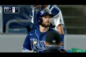 【SPOZONE MLB】レイズのロウはヤンキース戦で、試合を大きく動かした3ランホームランを放った。