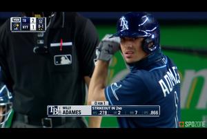 【MLB】8.20 マルチヒットを記録したアダメス レイズ@ヤンキース