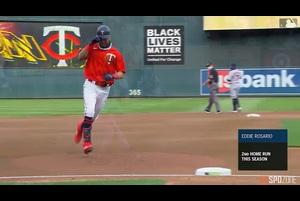 【MLB】8.2 4回裏 ロサリオのソロホームラン [CLE@MIN]
