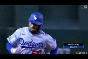 【SPOZONE MLB】ドジャースと長期契約を結んだばかりのベッツが、攻守に渡って目覚ましい活躍を見せた。