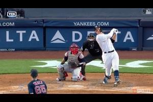 【SPOZONE MLB】ヤンキースのジャッジは宿敵レッドソックス戦で、守備では強肩を活かしたダブルプレーで味方投手のピンチを助け、打撃では豪快な一発を放った。