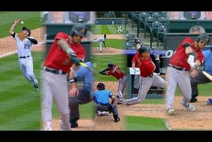 【SPOZONE MLB】<br /> 日本時間13日ロッキーズの本拠地で行われたダイヤモンドバックス戦は、両チーム得点を取り合い5−5で迎えた7回表、ダイヤモンドバックス打線が爆発し一挙7得点を奪い試合を決めた。試合は13-7でダイヤモンドバックスが勝利。