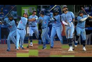 【MLB】ブルージェイズ 1試合で7本の本塁打を放つ 8.13 マーリンズ@ブルージェイズ