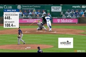 【MLB SPOZONE】ロイヤルズのソレアーは、現地時間8月8日のツインズ戦で、豪快な2発のホームランを放つ活躍を見せた。
