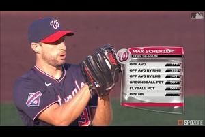 【MLB】7.30 7回1/3を無失点10奪三振と好投したシャーザー [WSH@TOR]